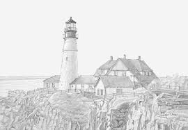 Small Picture Portland Head Light Drawing Fine Bebo Pandco