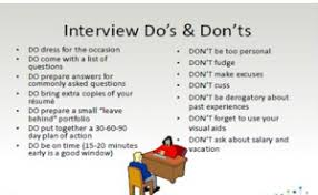 The Do S And Don Ts Of An Interview Dos And Donts Of An Interview Wisdom Jobs India