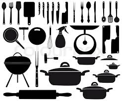 kitchen utensils vector. Vector Illustration Of Kitchen Tools For Cooking | Stock Colourbox Utensils Vector C