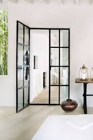 black metal framing will give french doors a fresh new look still refined as before
