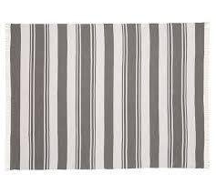 kilner stripe recycled yarn indoor outdoor rug gray