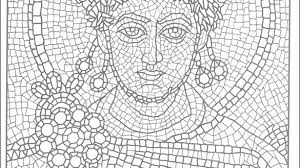 Mosaic Coloring Pages Printable Mosaic Coloring Pages For Adults