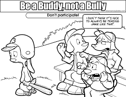 Bullying Coloring Sheets