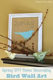 spring diy home decorating bird wall art