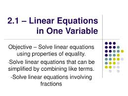 ppt 2 1 linear equations in one variable powerpoint presentation