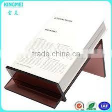 Single Book Display Stand china factory custom coffee color acrylic single book display 25