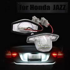 Crv Brake Light Replacement Led License Plate Light Lamp Bulb Assembly Replacement Rear Led Plate Light For Honda Crv Frv Jazz Crosstour Super White 6500k