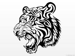 Here is a collection of free printable tiger coloring sheet for your kids to download, print and color. Tiger Face Coloring Pages Angry Tiger Face Clip Art Printable Coloring4free Coloring4free Com