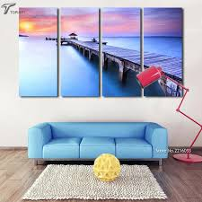 how to paint a sunset on a bedroom wall modern wall art printed bridge canvas painting on decorative modern wall art with how to paint a sunset on a bedroom wall modern wall art printed