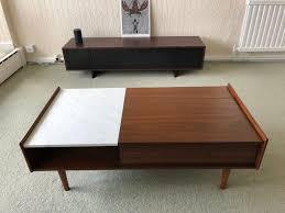 west elm mid century pop up storage coffee table