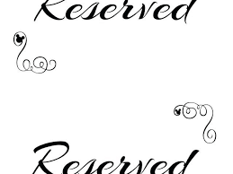 Reserved Signs Templates Reserved Sign Template And Free Family Tree Template Template