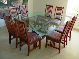 glass tables etched traditional dining