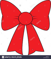 Red Ribbon Design Red Ribbon Bow For Christmas Present Symbol Design Vector