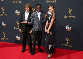 millie bobby brown and gaten matarazzo. actors gaten matarazzo (l), caleb mclaughlin and millie bobby brown from the netflix