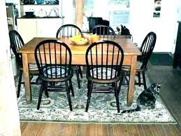 jute rug under kitchen table rug under a dining room table should