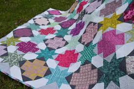 Star Crossed Quilt - Color Girl Quilts by Sharon McConnell & Star Cross modern patchwork quilt pattern, beginner quilt pattern Adamdwight.com