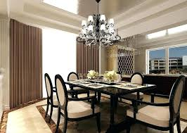 dining room chandelier height table