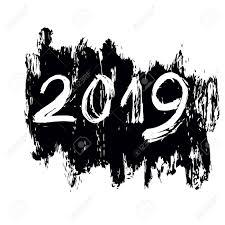 Znalezione obrazy dla zapytania new year 2019 black and white