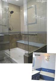 in this transformation squires design remodeling replaced a small shower and large tub with a spacious walk in shower designed to be not only