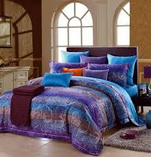 blue purple paisley stripe egyptian cotton comforter bedding set with king plans 8