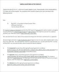 Formal Job Offer Template Email Job Offer Acceptance Letter Format For Subject Line