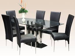 Round Smoked Glass Dining Table Furniture Country Style Round Glass Dining Table And 4 Chocolate