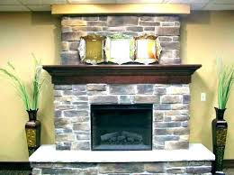 stacked rock fireplace stone ideas stones glass images