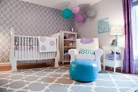 view in gallery ds bring a dash of purple to this modern nursery in gray design barden s