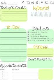 Daily Goals Template Image Result For Daily Goals Template Daily Goals Template