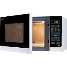 sharp combination microwave. sharp r372wm 25l 900w freestanding microwave in white combination