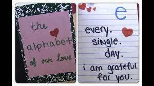 diy alphabet of love valentines day gift ideas diy gifts for boyfriend anniversary gift ideas