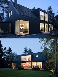 Find this Pin and more on Houses & Homes by alicesp. black exterior on modern  Scandinavian ...