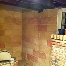 painted ugly old white cinder blocks to match the existing bricks made by moriah in 2018 cinder block walls block wall and bat