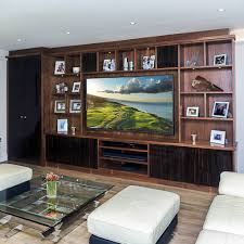 Walnut Living Room Furniture Bespoke Walnut Living Room Display Unit Homewood Furniture