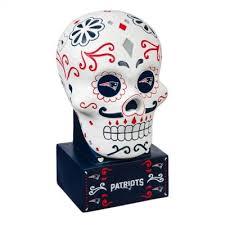 Evergreen New England Patriots Sugar <b>Skull Garden</b> Statue ...
