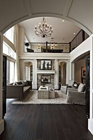 Living Room With Dark Wood Floors
