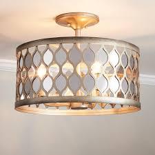 camberley 3 light candelabra semi flush mount ceiling fixture antique silver leaf