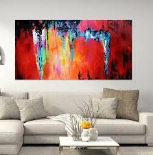 >red and grey wall art modern living room wall art ideas yellow red  red and grey wall art fire dance 48x24 abstract painting large handmade abstract painting on canvas red and grey wall art