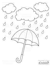 Small Picture Rainy Day Umbrella Free Printable Coloring Page