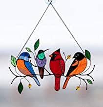 stained glass birds - Amazon.com