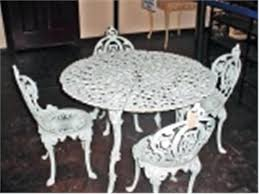 white cast iron patio furniture. White Iron Table And Chairs Vintage Cast Patio Set Is X Four . Wrought Furniture A