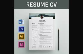 Resume Word Template Free Beauteous 28 Eye Catching CV Templates For MS Word Free To Download