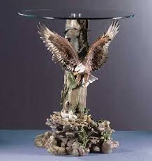 eagle glass top coffee table