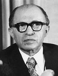 Menachem Begin was the prime minister of Israel from 1977 to 1983. He is remembered for signing a peace treaty with Egypt in 1979. - 13170-004-185B6E2F