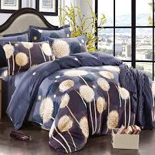 4pcs pure cotton sanding dandelion printed thicken bedding sets duvet cover twin size cod