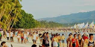 Image result for tourist arrival in boracay