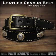 genuine leather concho belt biker belt pin buckle black wild hearts leather silver id lb3767t40