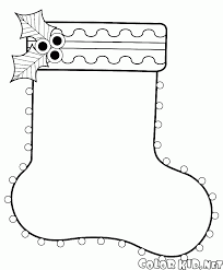 Small Picture Coloring page Christmas stockings on the fireplace