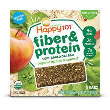 <b>Happy Tot</b> Organics <b>Fiber & Protein</b> Soft-Baked Oat Bar – Apple ...