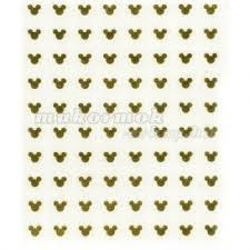Zlaté 3d Nálepky Mickey Mouse Nechty Eshop
